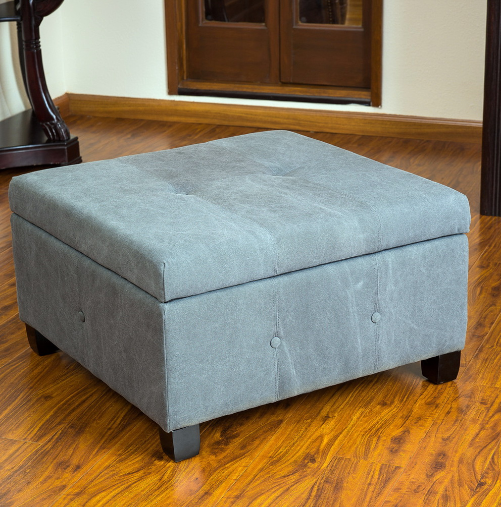 Fabric Square Ottoman Coffee Table Home Design Ideas