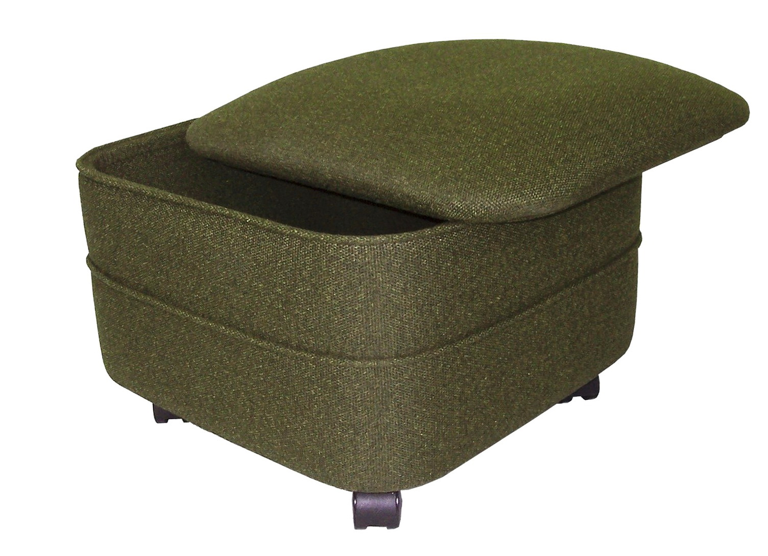 Fabric storage ottoman square home design ideas for Storage ottomans fabric