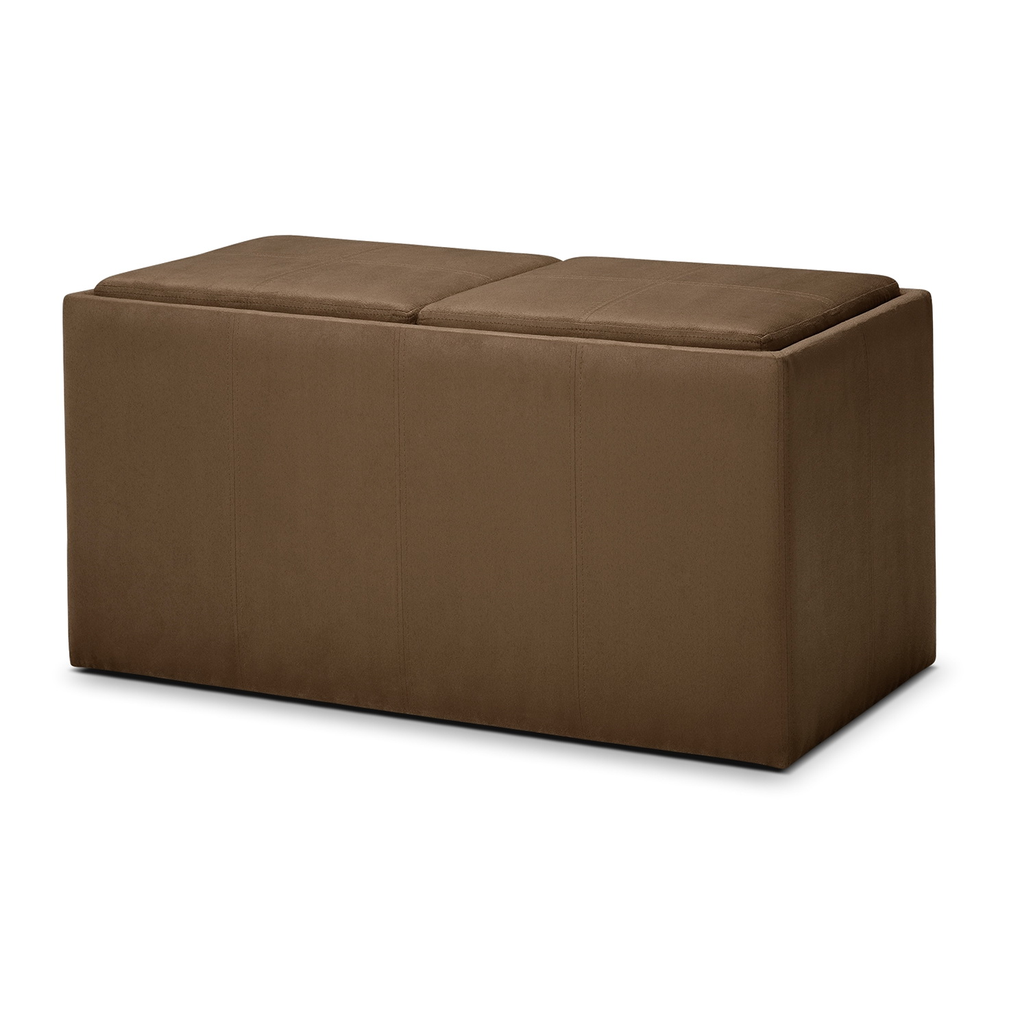 Fabric storage ottoman with tray home design ideas for Storage ottomans fabric