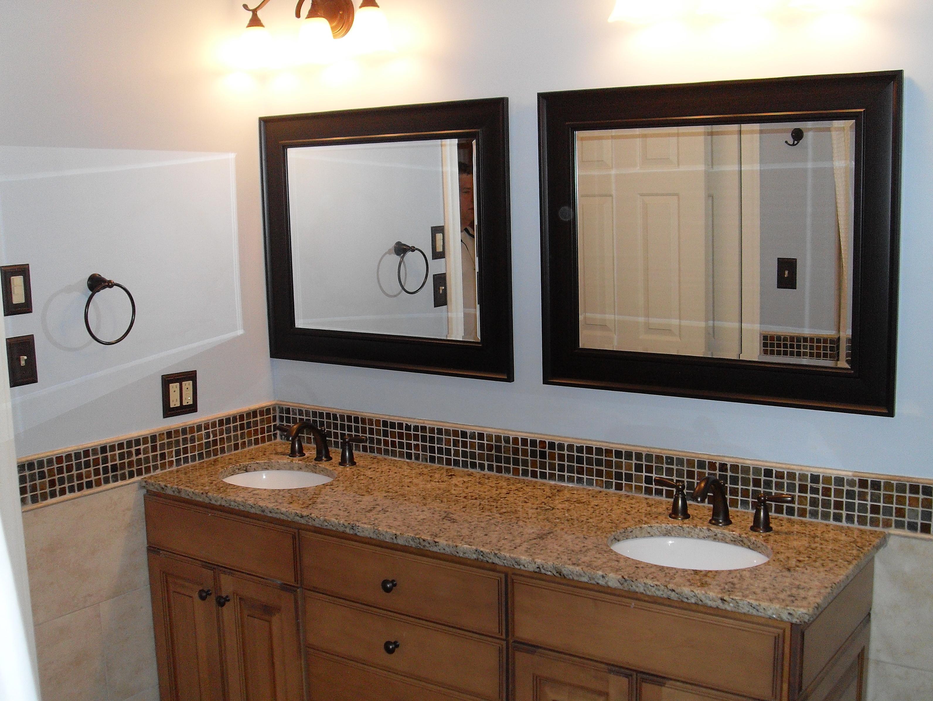 Framed Bathroom Mirrors Double