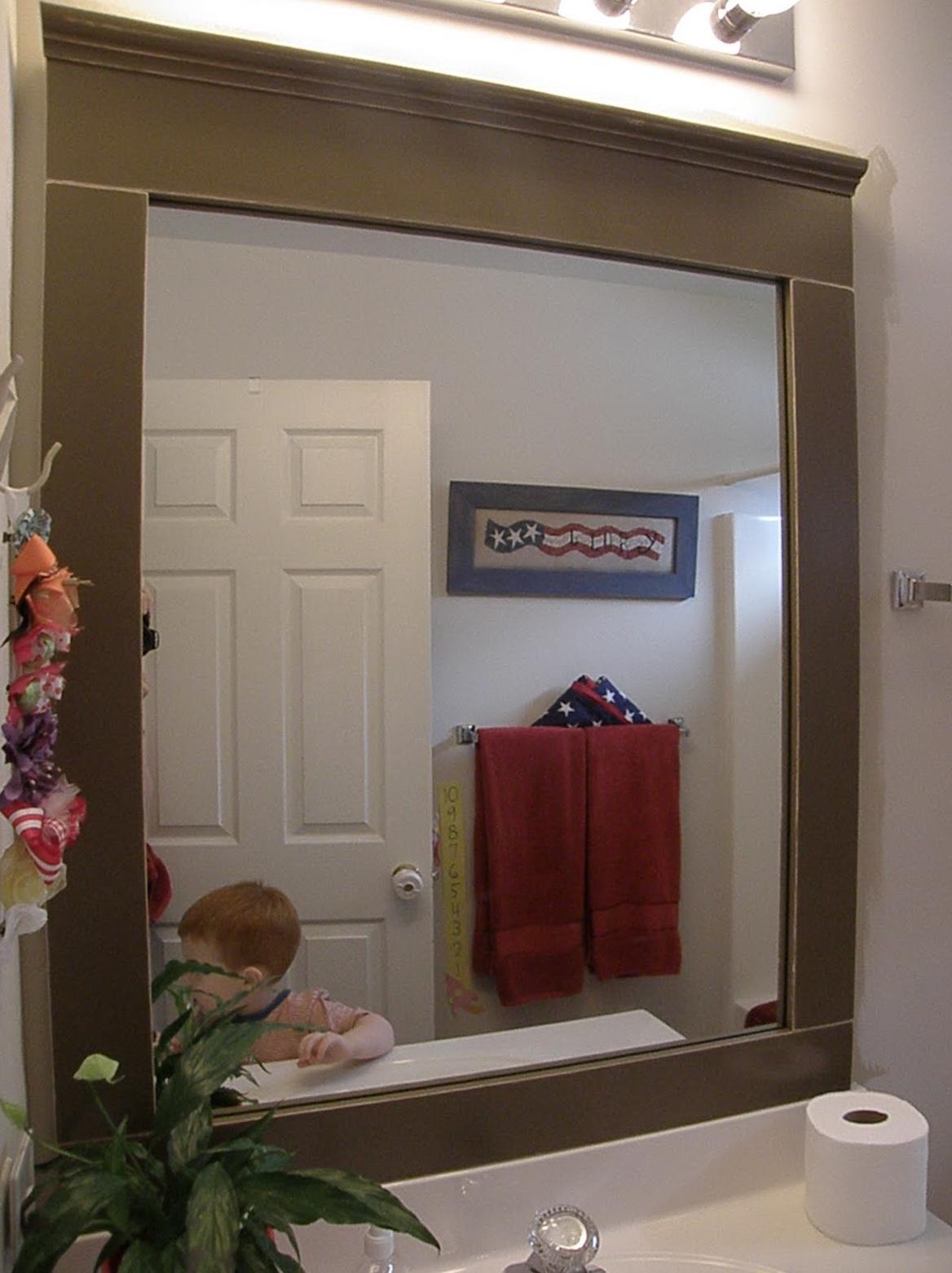 Framed bathroom mirrors ideas home design ideas for Bathroom picture frame ideas