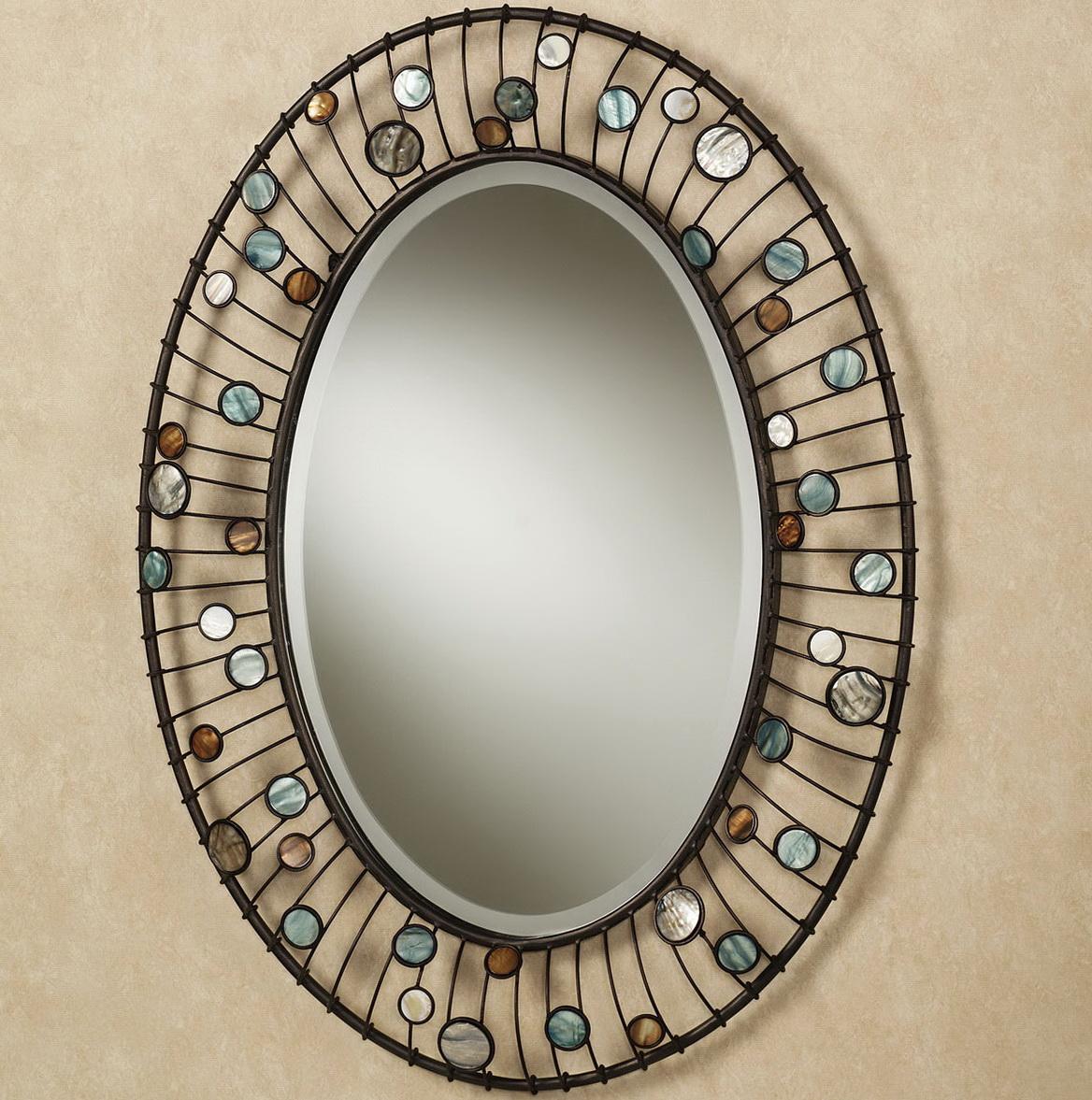 Framed Oval Bathroom Mirrors