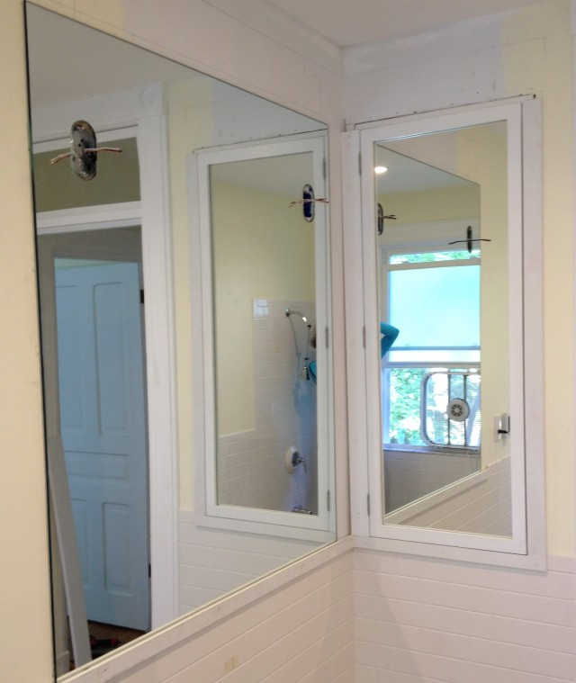 Frameless Mirrored Medicine Cabinet