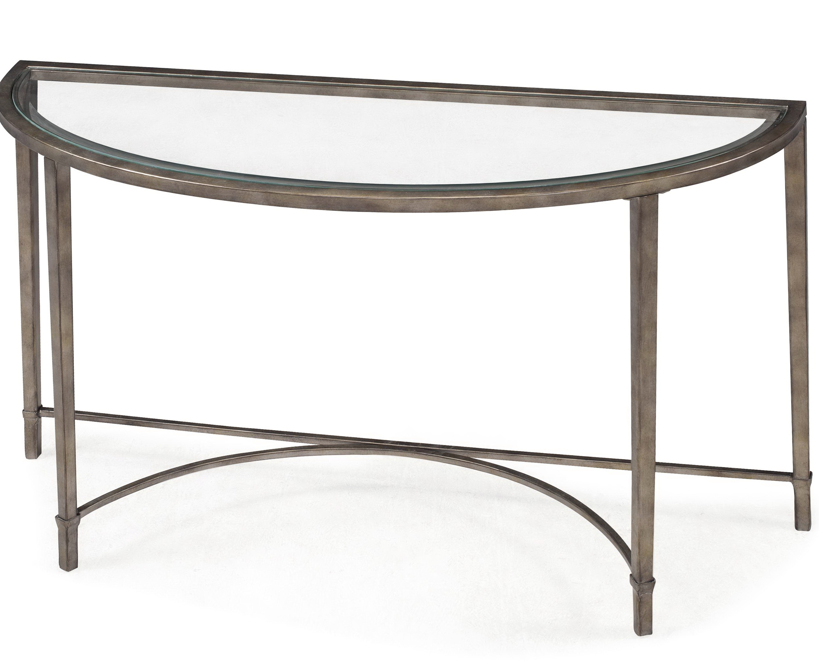 Glass and metal console table home design ideas Metal console table