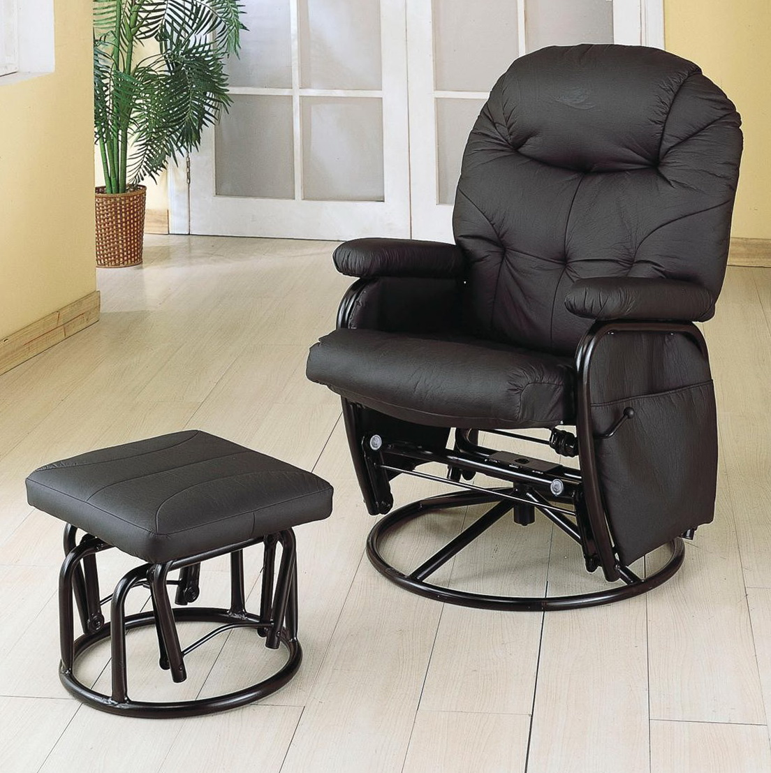 Glider Recliner With Ottoman