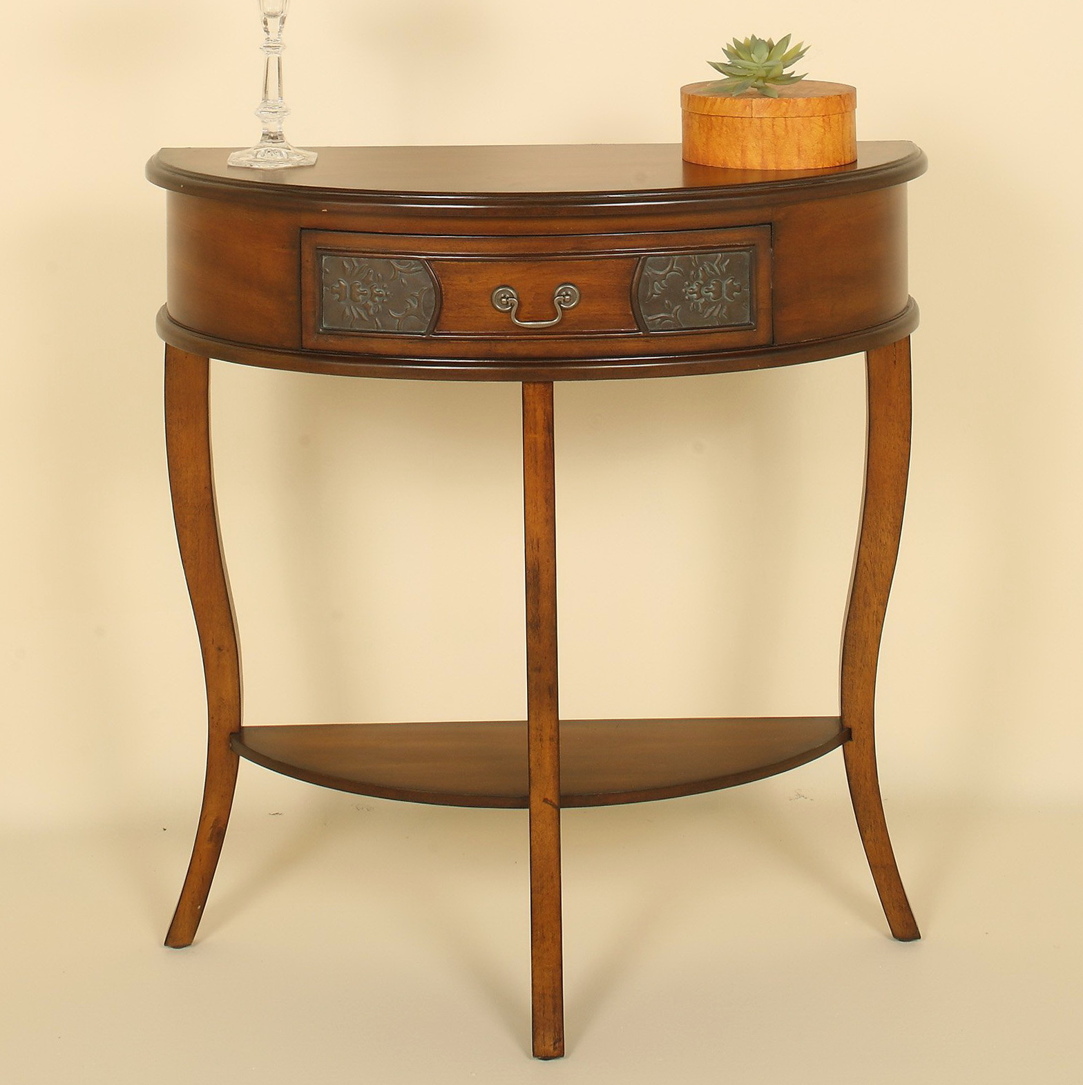 Half Round Console Table With Drawers