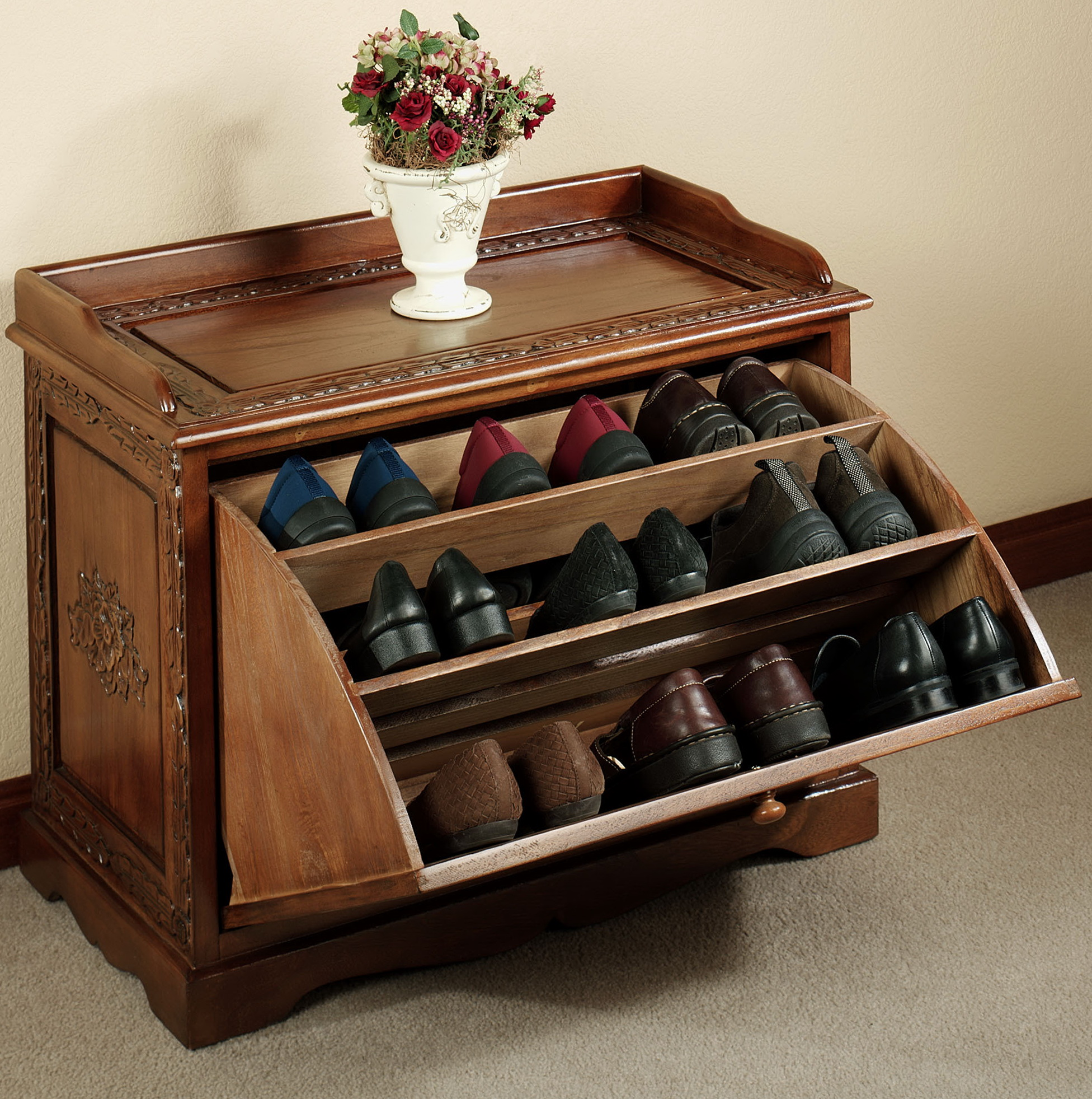 Hall Bench With Shoe Storage