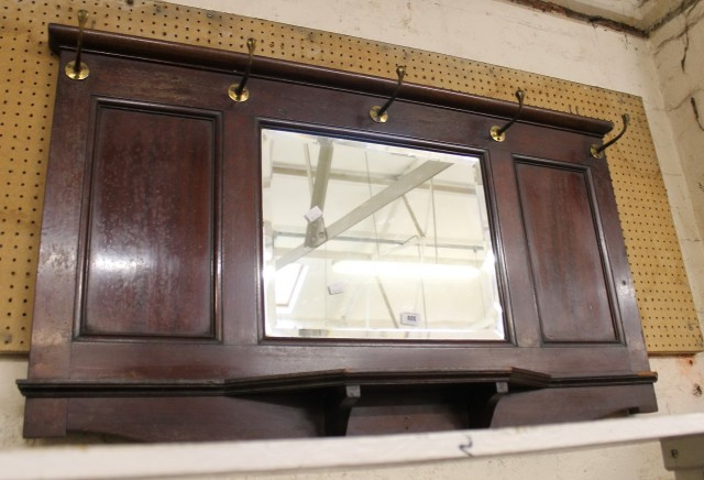 Hall Mirror With Hooks