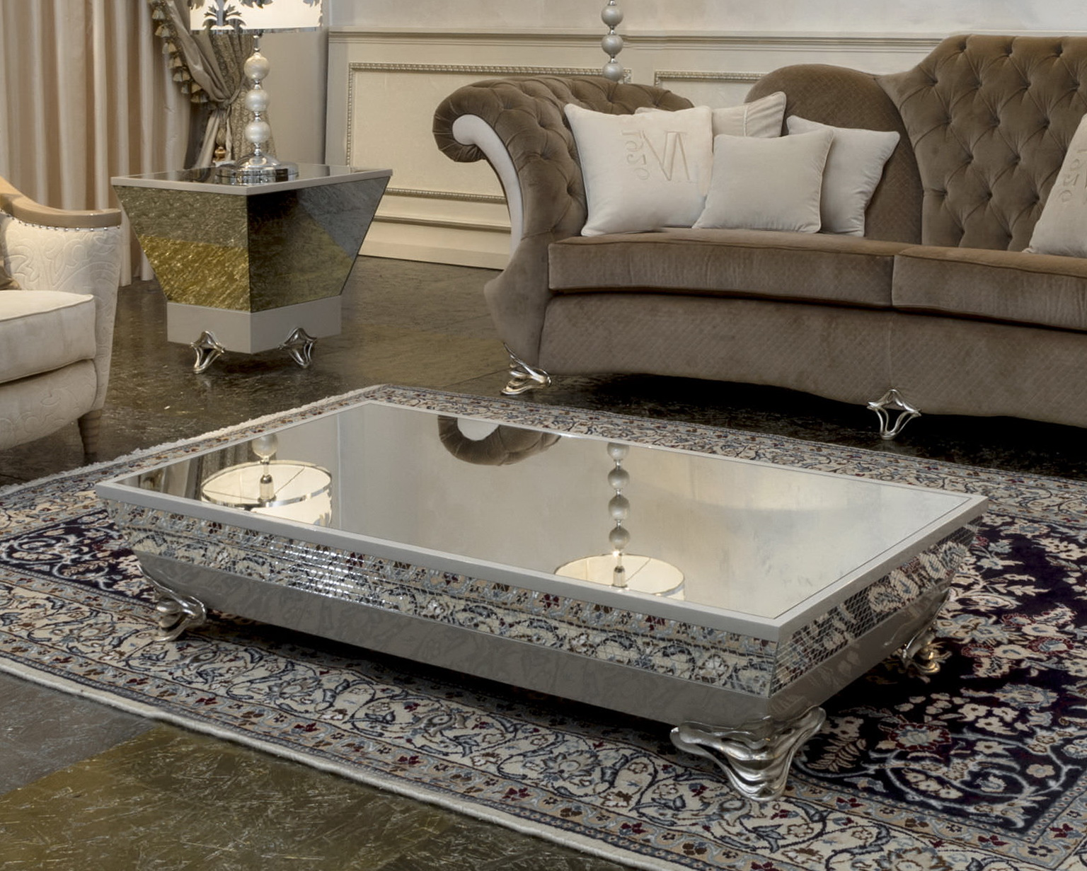 Herringbone Mirror Coffee Table Home Design Ideas