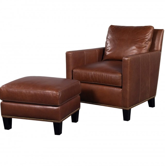Ikea Leather Chair And Ottoman