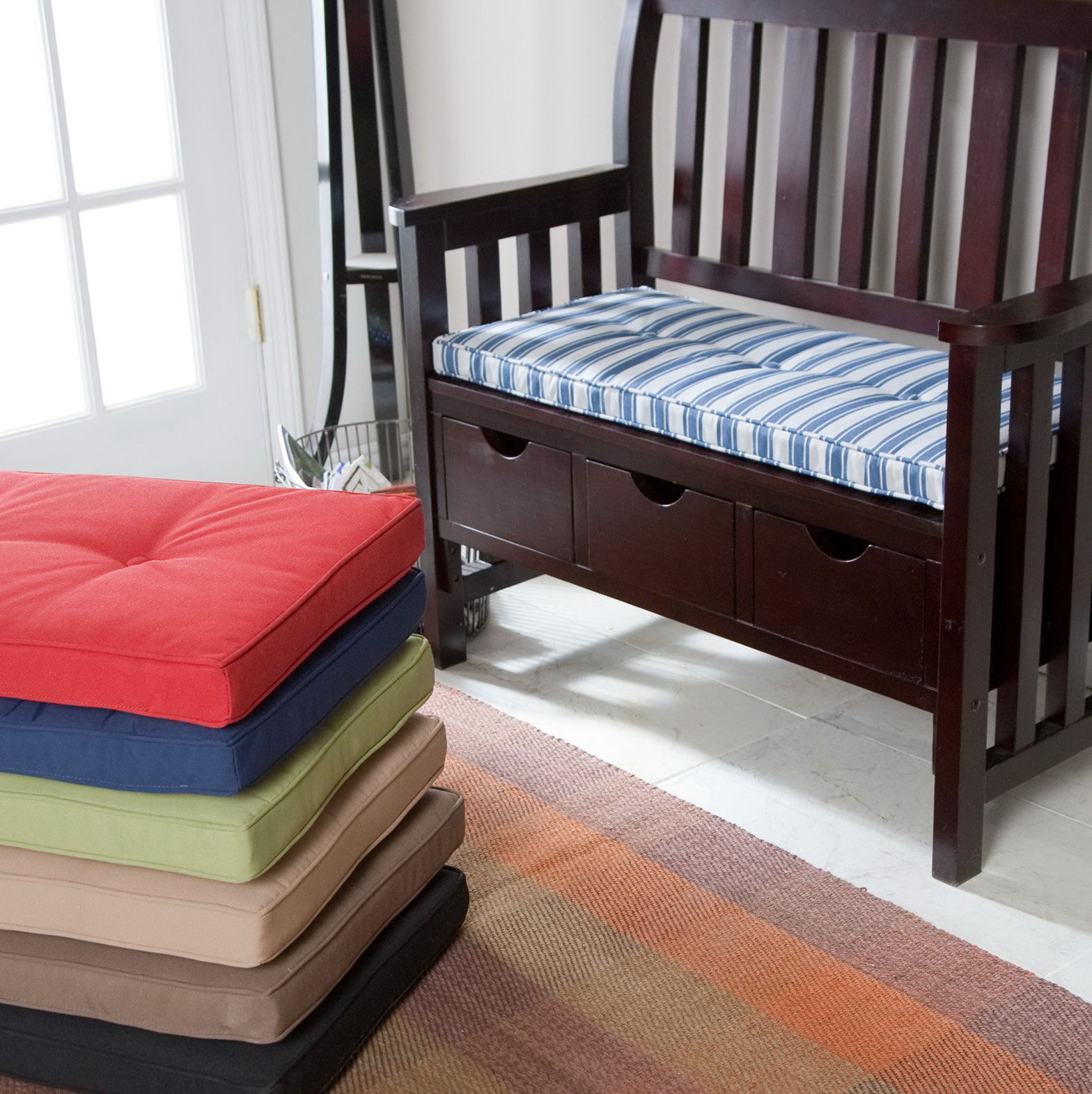 Indoor bench cushions home design ideas