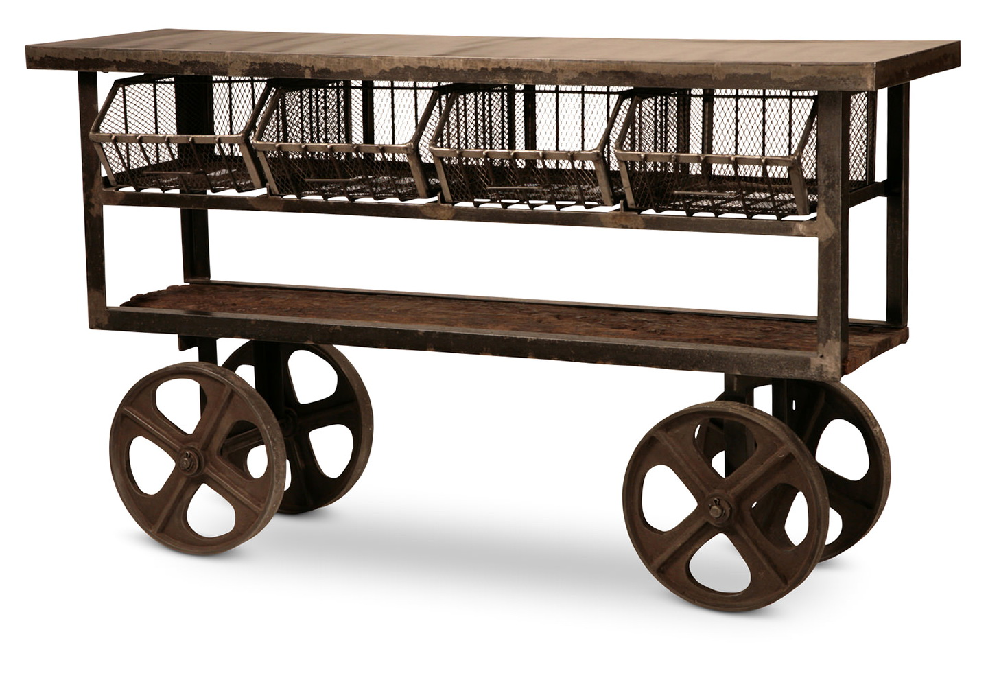 industrial console table with wheels home design ideas. Black Bedroom Furniture Sets. Home Design Ideas