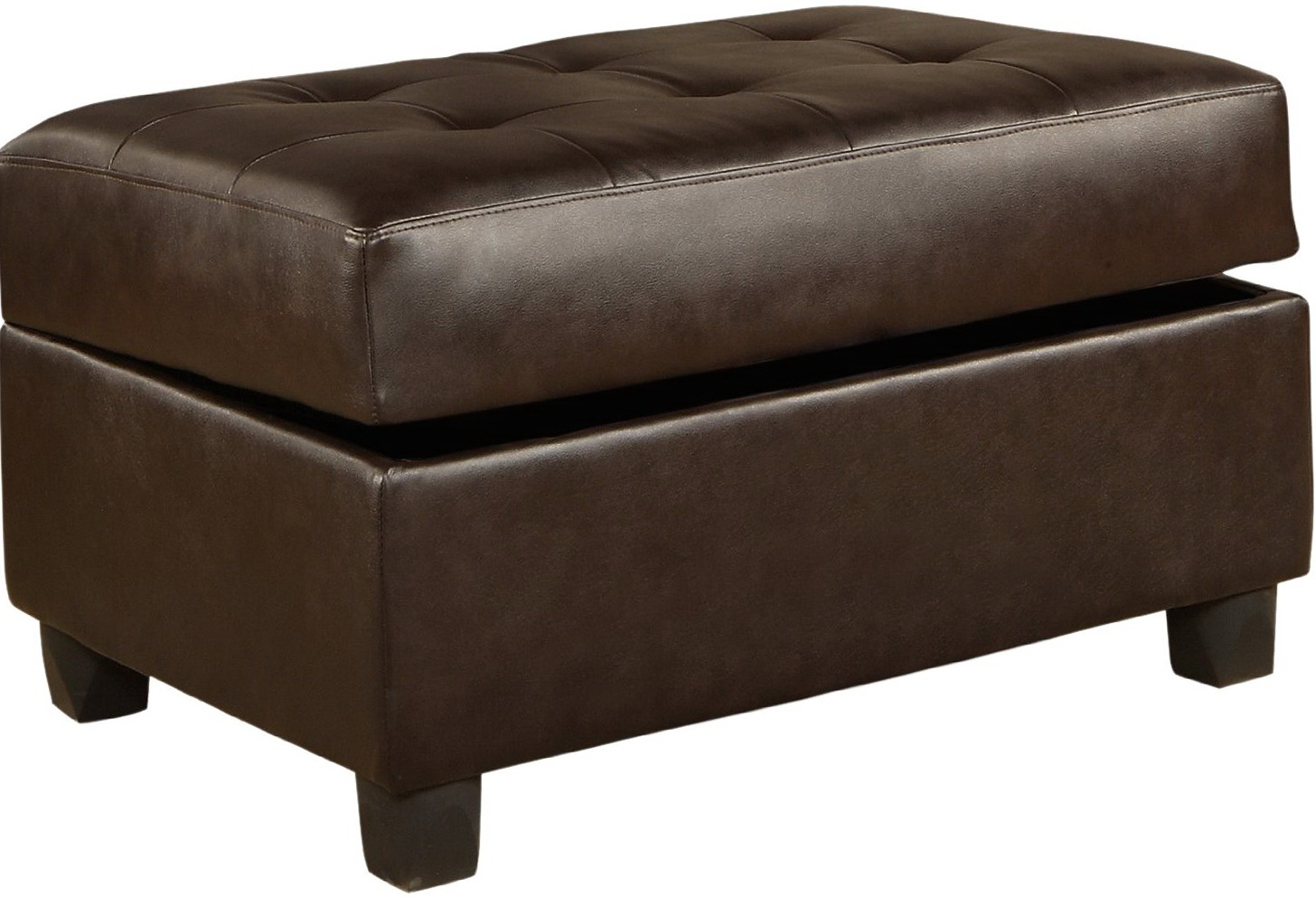 Isabella Bonded Leather Storage Ottoman