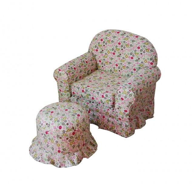 Kids' Sofa Chair And Ottoman Set