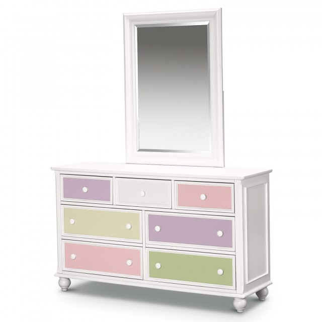 Kids White Dresser With Mirror