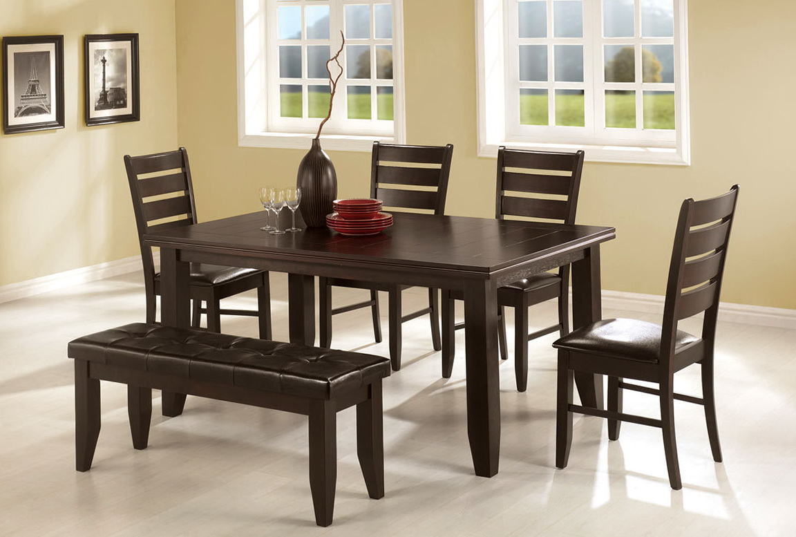 Kitchen Table With Bench And 4 Chairs
