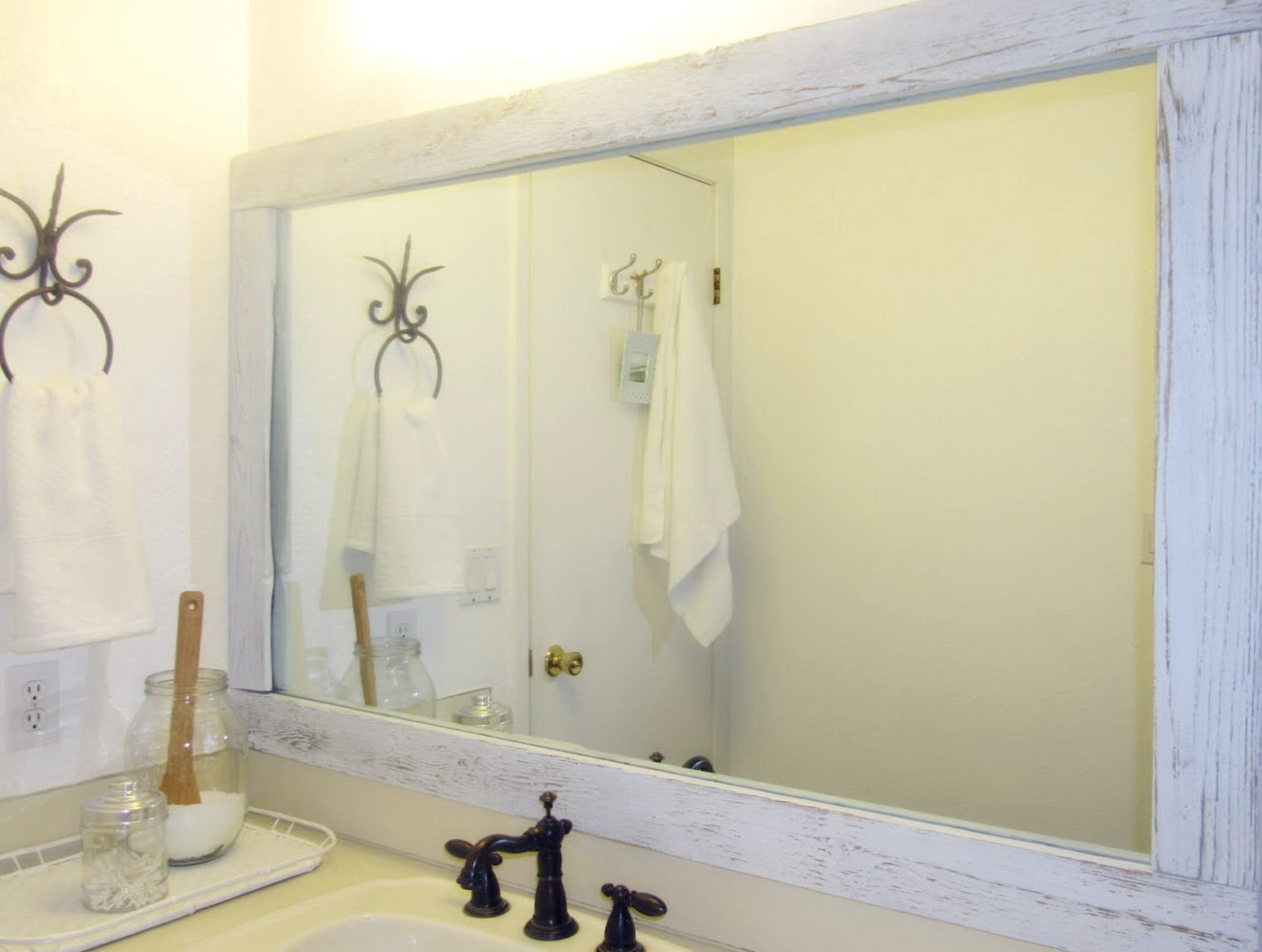 Large Bathroom Mirror Makeover