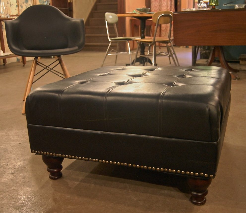 Large leather ottoman coffee table home design ideas Large ottoman coffee table