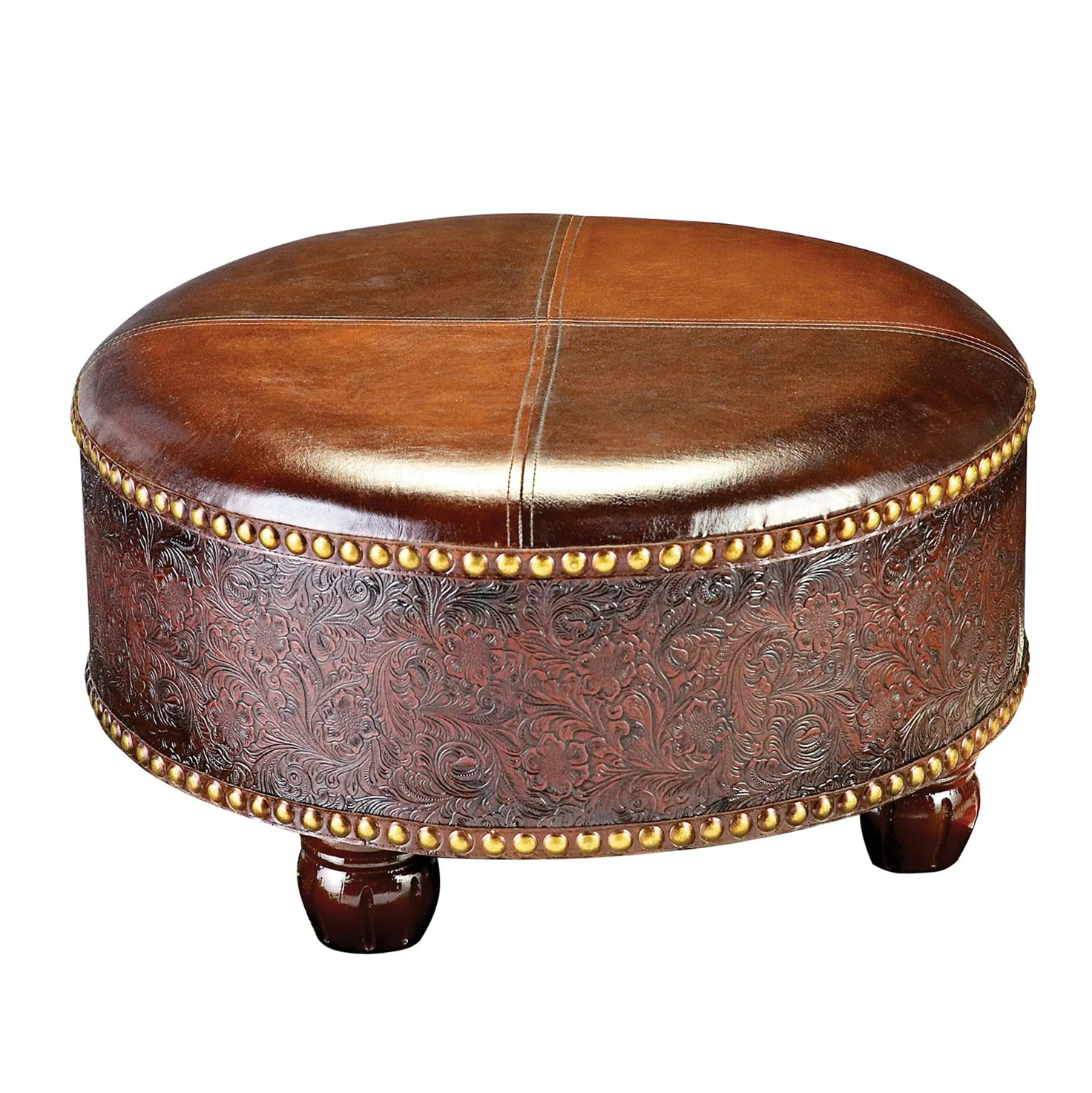 Large Round Coffee Table Ottoman