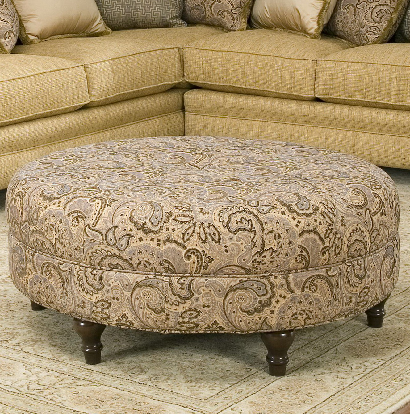 Large Round Ottoman Couch