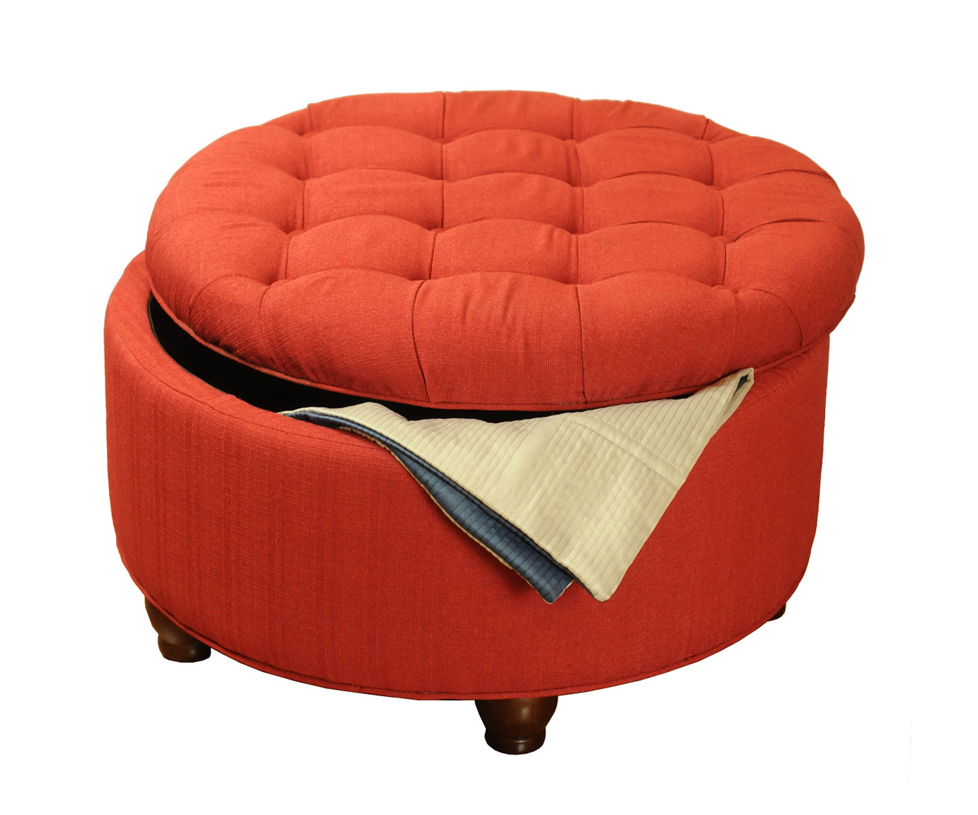 Large Round Ottoman With Storage Home Design Ideas