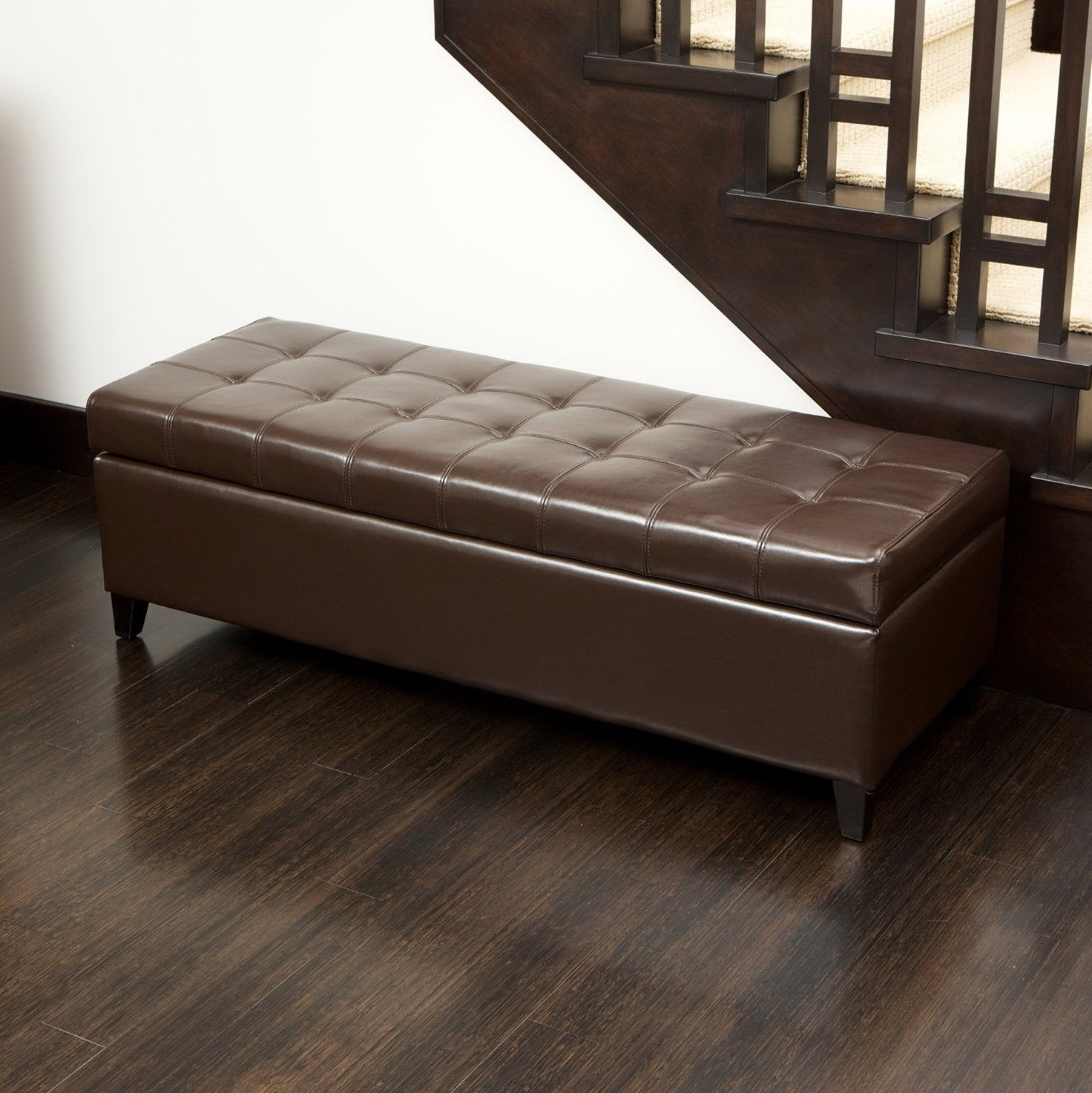 Large Storage Ottoman Bench Home Design Ideas