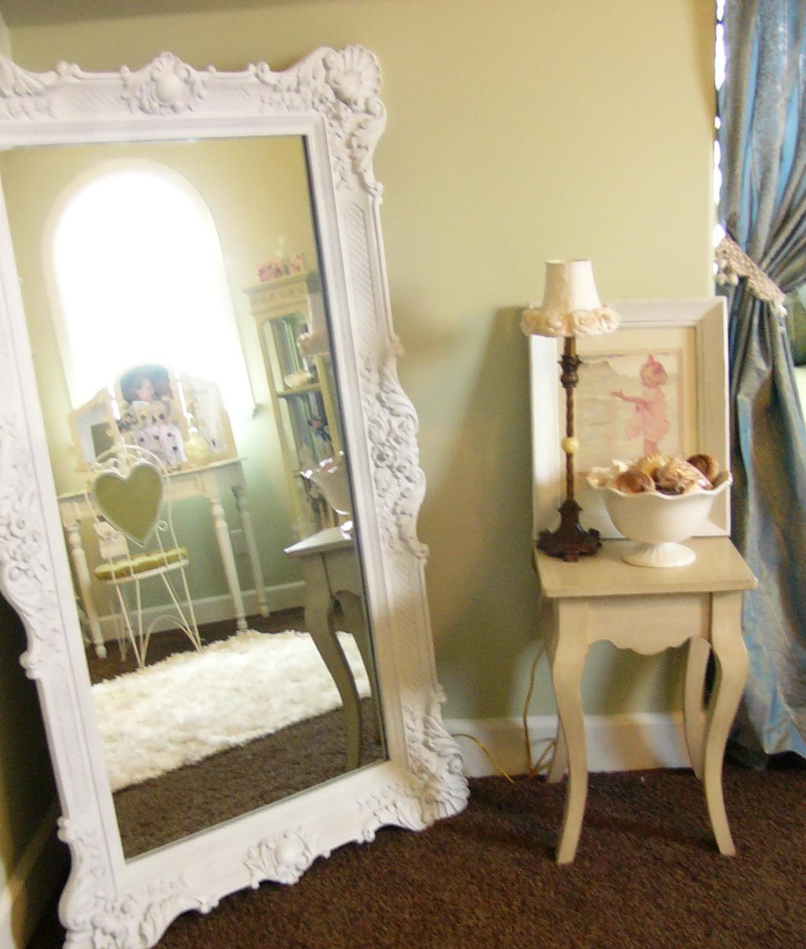 large white framed mirror home design ideas. Black Bedroom Furniture Sets. Home Design Ideas