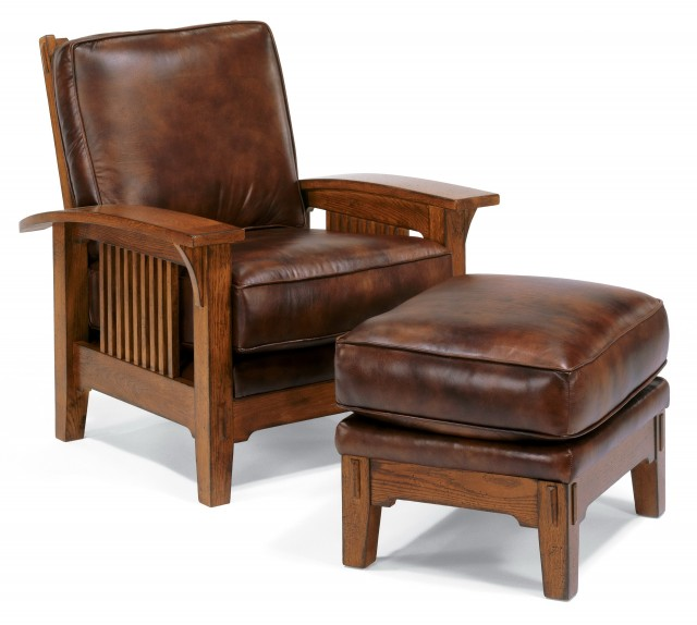 Leather Chair With Ottoman