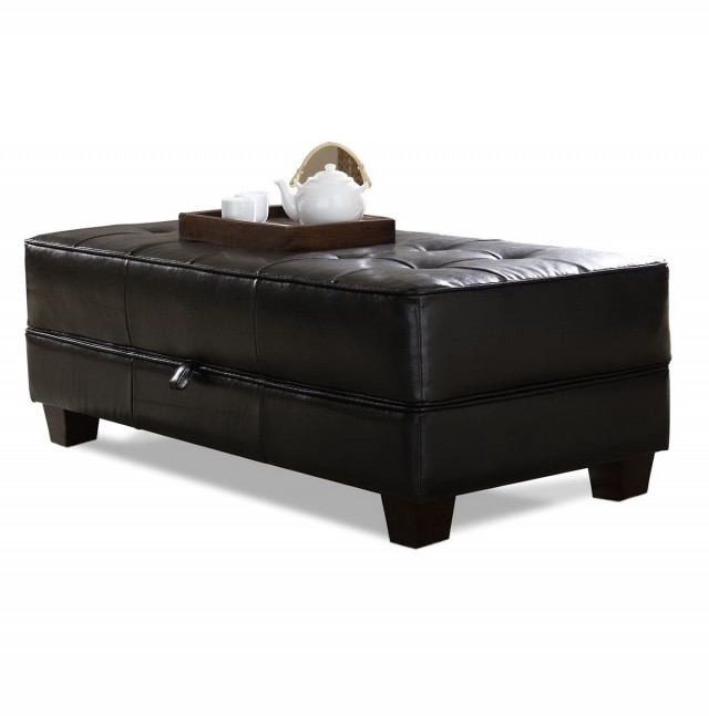 Leather Ottoman Coffee Table With Storage