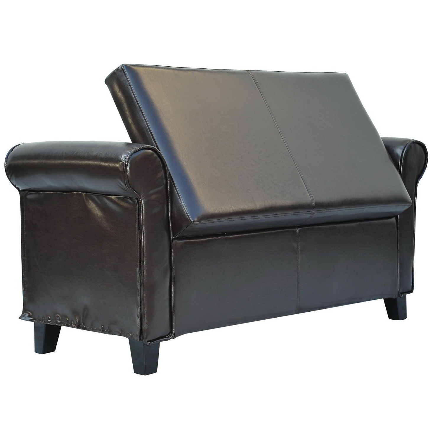 Leather Storage Bench Seat