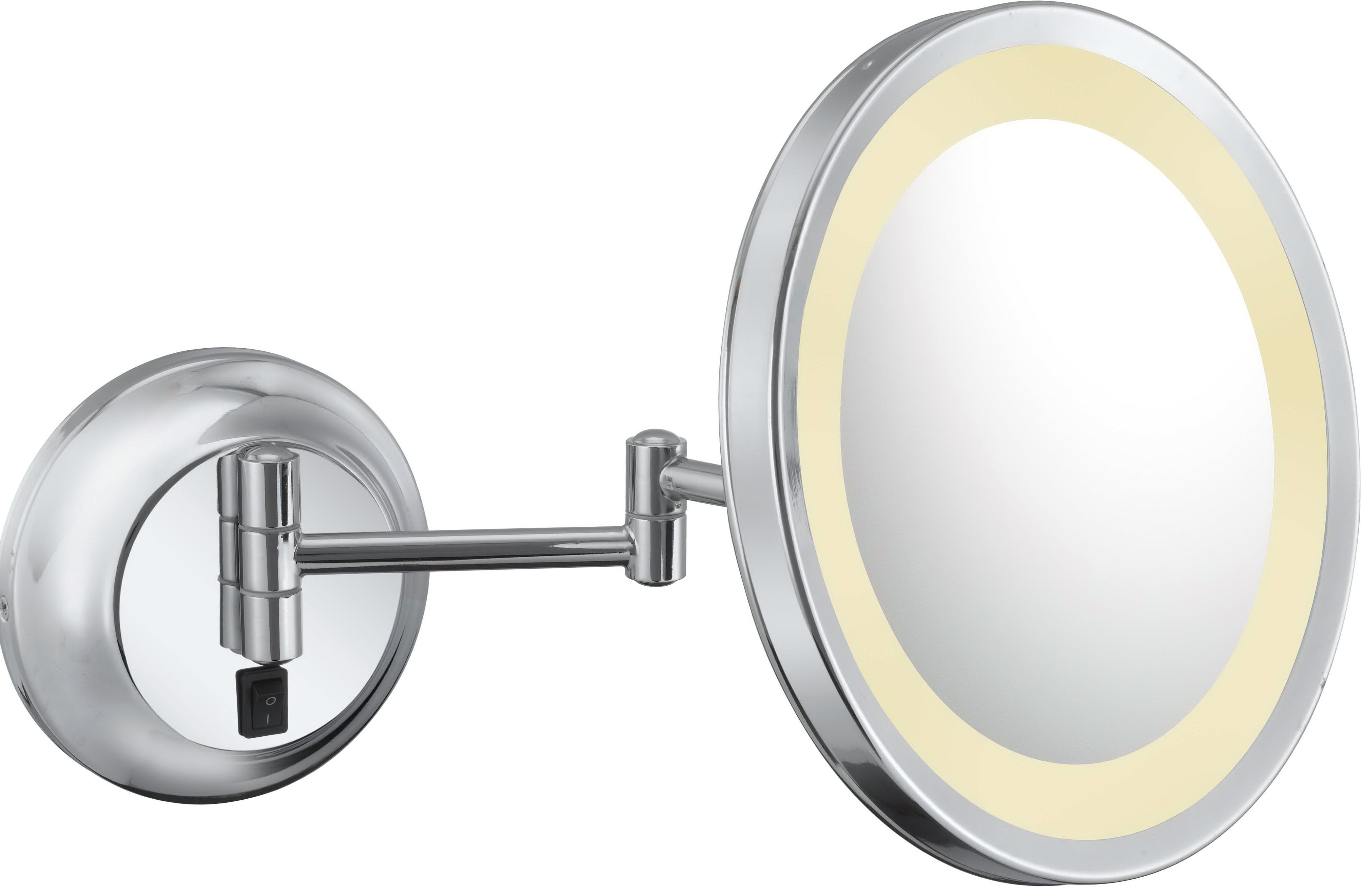 Lighted Magnifying Mirror Hardwired Home Design Ideas