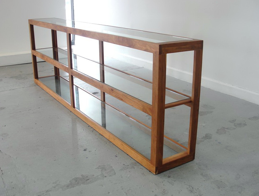 Long Console Table With Shelves