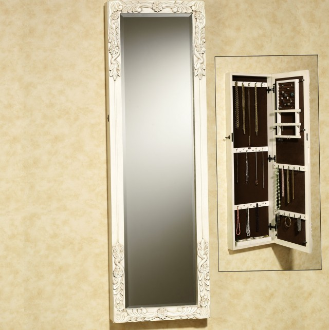 Long Mirror With Jewelry Storage