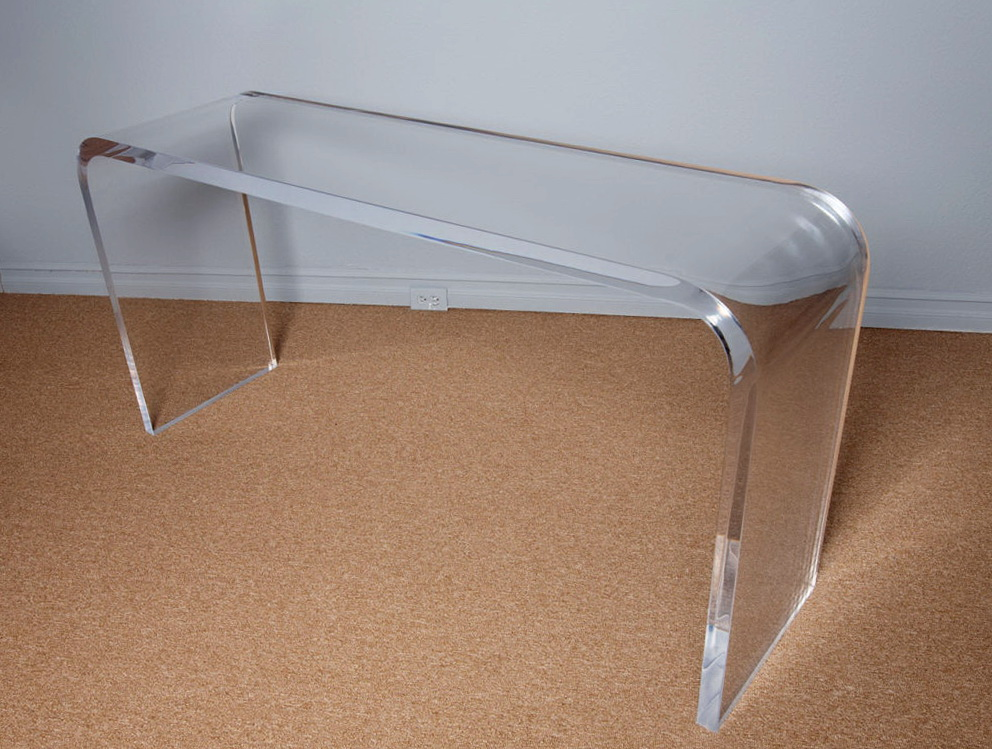 lucite acrylic console table home design ideas. Black Bedroom Furniture Sets. Home Design Ideas