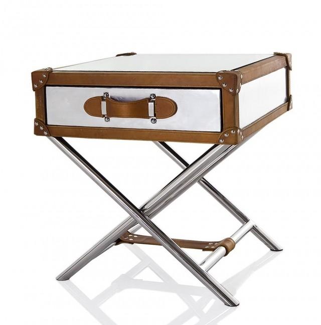 Metal Trunk Side Table