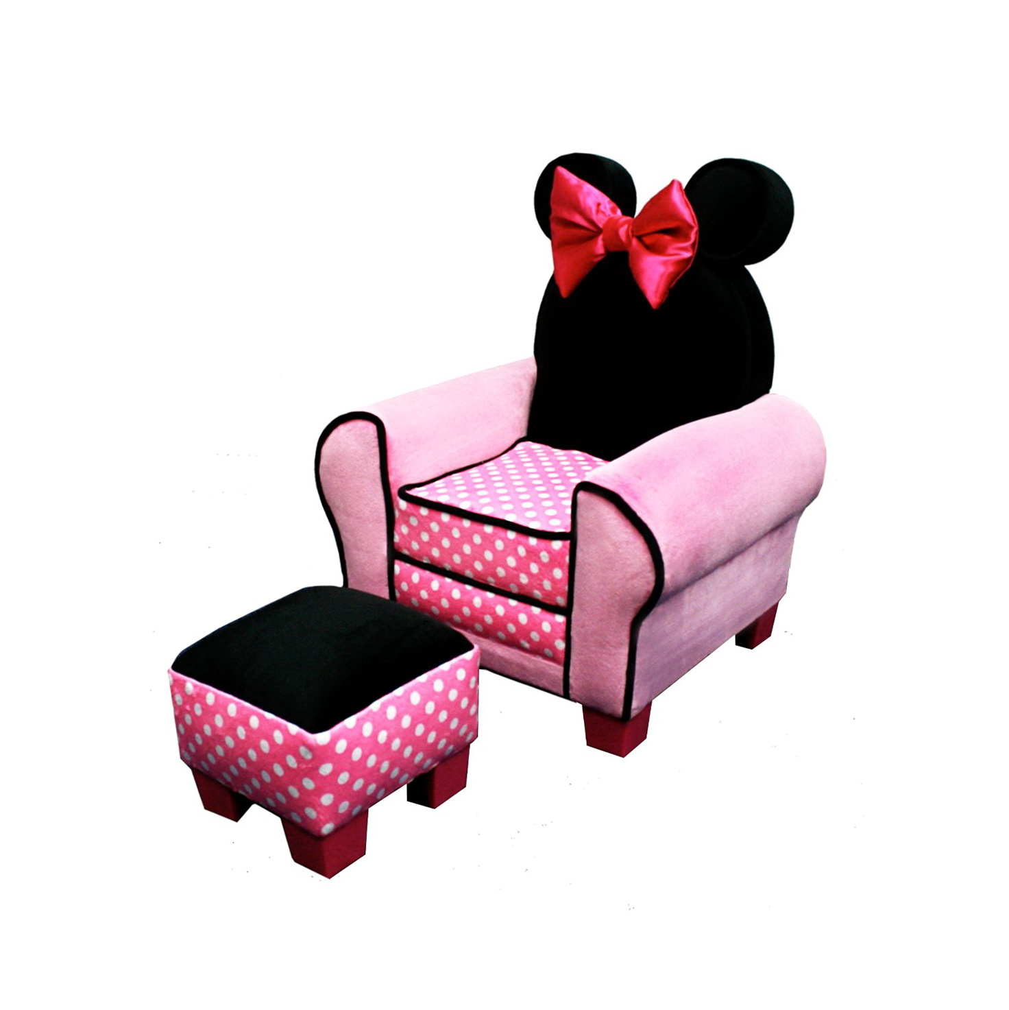 Minnie Mouse Chair And Ottoman