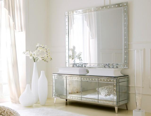 Mirrored Bathroom Vanity Cabinets