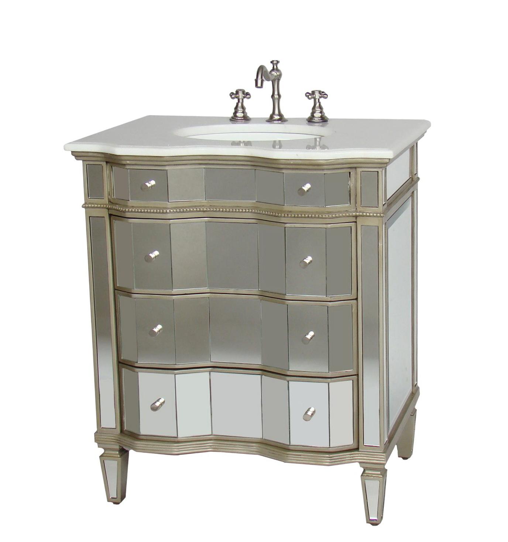 Mirrored Bathroom Vanity Sink