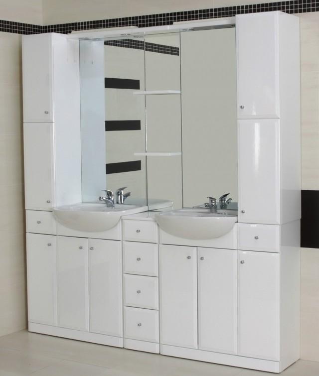 Mirrored Bathroom Vanity Units