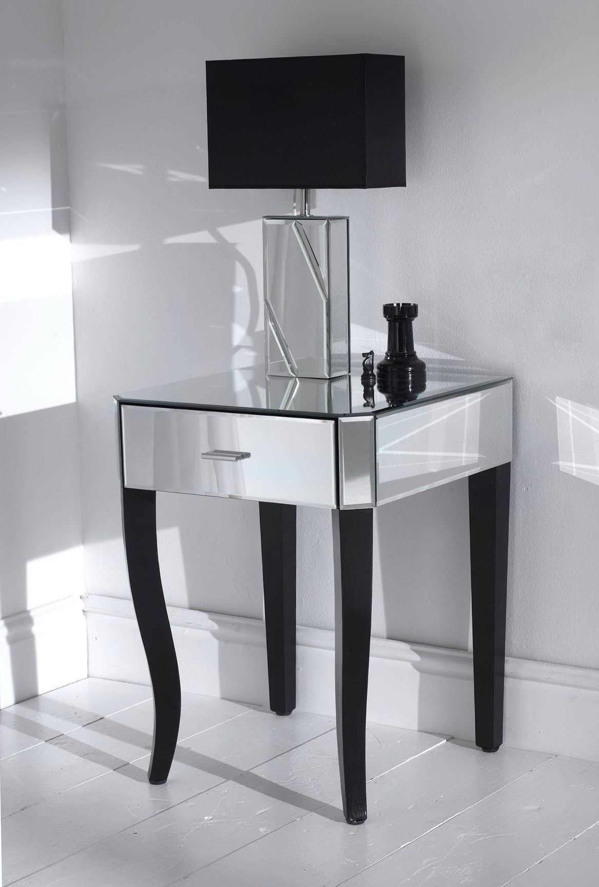 side table for bedroom mirrored bedroom side tables home design ideas 17057