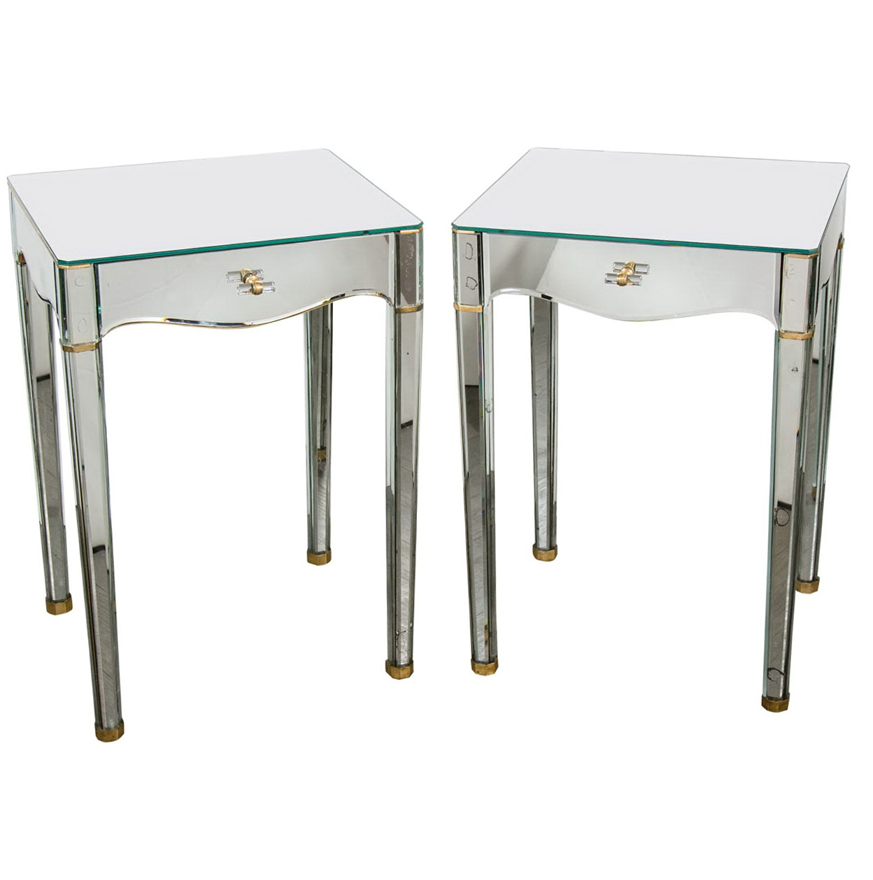 Mirrored End Tables Nightstands Home Design Ideas