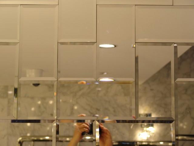 Mirrored Subway Tiles Bathroom