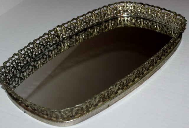 Mirrored Vanity Tray Vintage