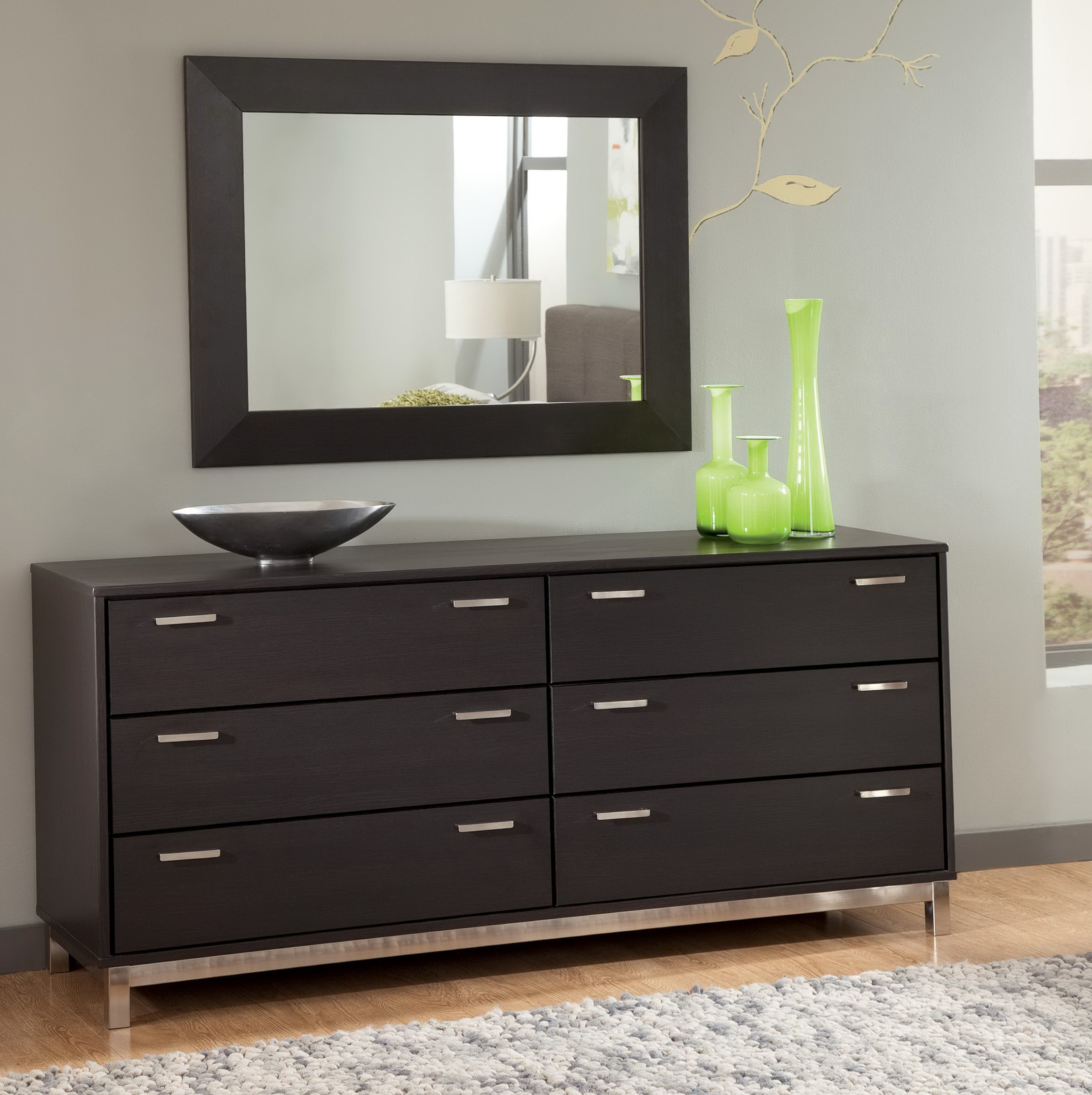 Modern Black Dresser With Mirror Home Design Ideas