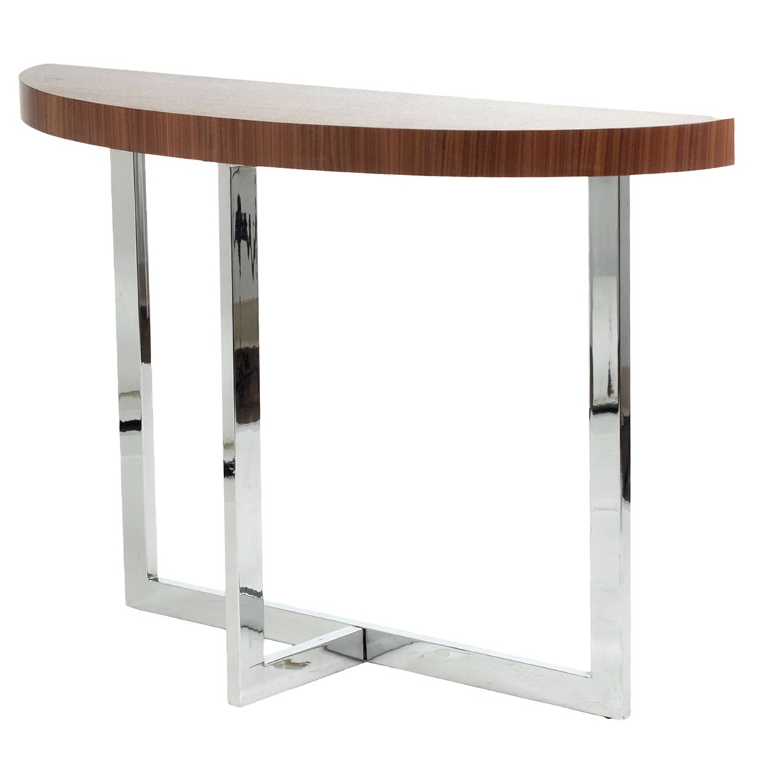 Modern Half Moon Console Table