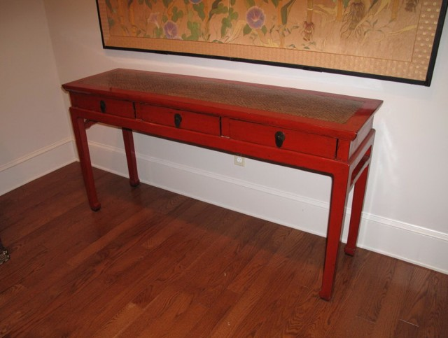 Modern Red Console Table