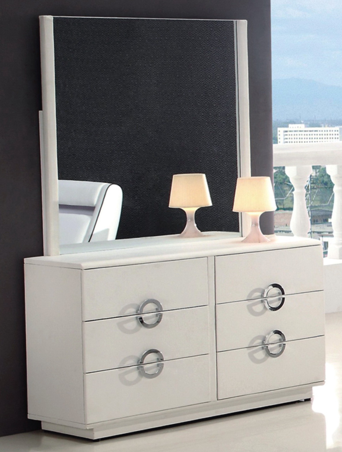 Modern White Dresser With Mirror Home Design Ideas