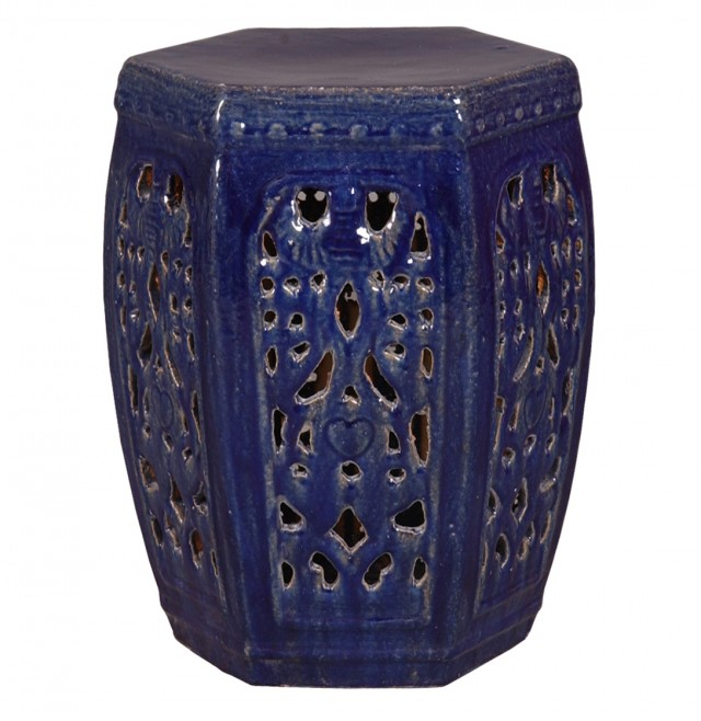 Navy Blue Side Table