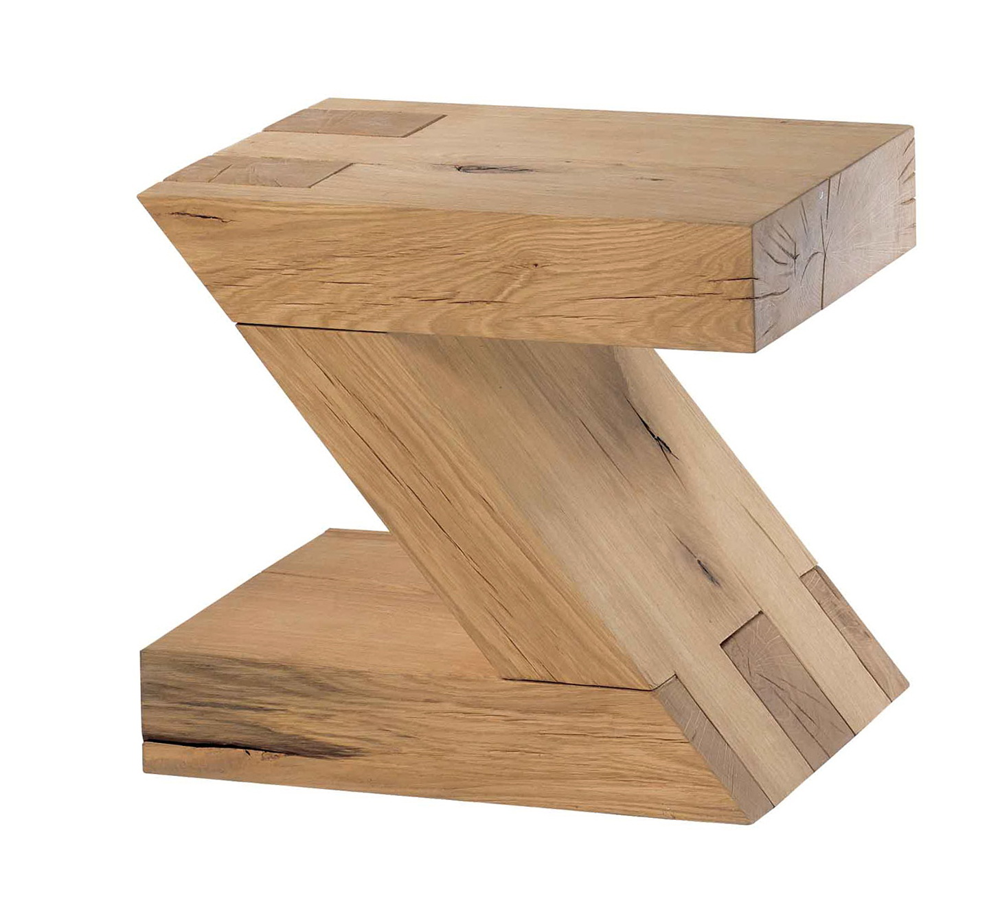 Oak Side Table With Drawers