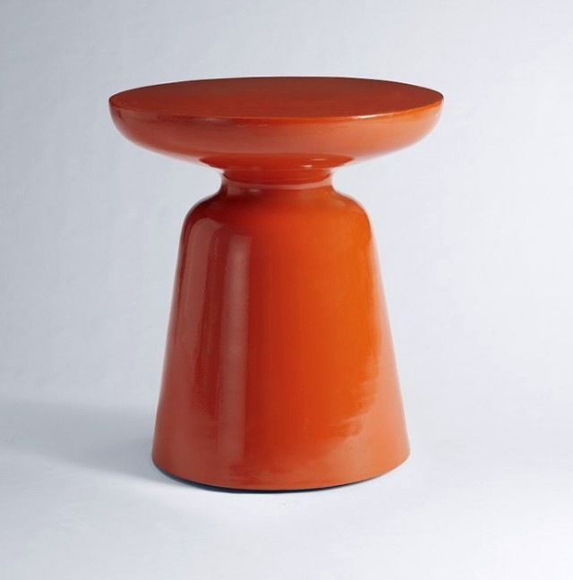 Orange Side Table West Elm